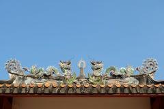 Старая крыша дракона Стоковое Изображение RF