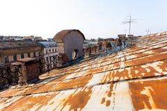 Старая крыша Санкт-Петербурга Стоковое Изображение
