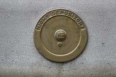 Старая крышка хранилища ночи банка Стоковое Изображение