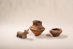 Старая культура Cucuteni гончарни Стоковое фото RF