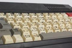 Старая клавиатура компьютера как часть компьютера Стоковое фото RF