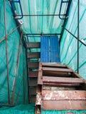 Старая лестница высоких лесов Стоковая Фотография