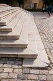 Старая лестница серого цвета гранита Стоковое фото RF
