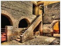 старая лестница Стоковая Фотография