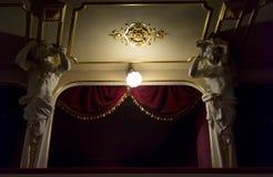 Старая ложа театра стоковые изображения rf