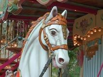 Старая лошадь carousel стоковое изображение rf