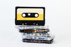 Старая магнитофонная кассета изолированная на белой предпосылке Историческое reco Стоковая Фотография RF