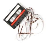 Старая магнитофонная кассета Стоковое Фото