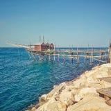 Старая машина рыбной ловли Стоковое Изображение