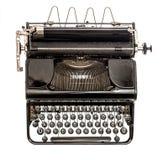 Старая машинка изолированная на белой предпосылке античный предмет стоковые фото