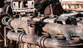 Старая машинная часть стоковое изображение rf