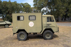 старая машины скорой помощи воинская Стоковая Фотография