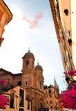 Старая малая улица Рима Стоковое Изображение