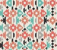 Старая мексиканская ацтекская красочная орнаментальная предпосылка ткани ткани Стоковые Фото