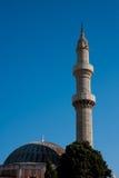 Старая мечеть в Родосе, Греция Стоковое фото RF