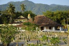 Старая мечеть Pengkalan Kakap в Merbok, Kedah Стоковое фото RF
