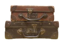 старая мешков кожаная стоковые изображения rf