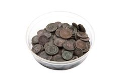Старая медная монетка Стоковое Изображение