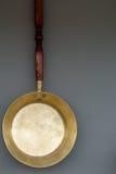 Старая медная сковорода Стоковое Фото