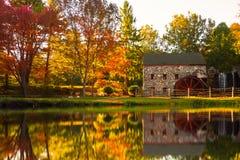 Старая мельница Sudbury Массачусетс шрота Стоковое Фото