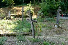 Старая могила Стоковое Изображение