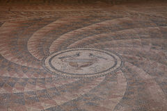 Старая мозаика в древнем городе Antandrus, Турции. Стоковые Изображения RF