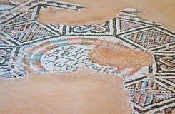 Старая мозаика в Kourion, Кипре Стоковое Изображение