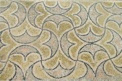 Старая мозаика пола в руинах Volubilis, Марокко Стоковые Изображения RF