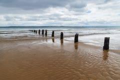 Старая мола Cowes вдоль пляжа Cowes, острова Филиппа, Виктории, Австралии Стоковая Фотография