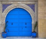 Старая морокканская дверь от Essaouira Стоковые Фотографии RF