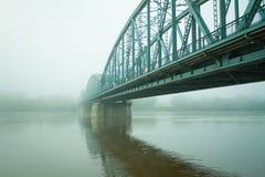 старая моста туманная Стоковое Фото
