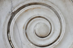 Старая мраморная спираль Стоковая Фотография