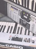 Старая музыка Profi клавиатуры Casio Стоковое Изображение RF