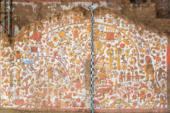 Старая настенная роспись в Перу Стоковая Фотография RF
