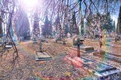 старая надгробная плита Христианская культура вероисповедания Стоковое фото RF