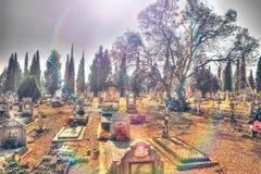 старая надгробная плита Христианская культура вероисповедания Стоковая Фотография RF