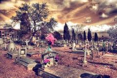старая надгробная плита Христианская культура вероисповедания Стоковая Фотография