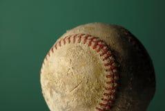 Старая несенная текстура кожи бейсбола для спорта Стоковые Изображения