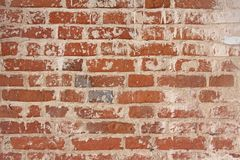 Старая облупленная белая краска слезая grungy треснутую стену Отказы, Стоковая Фотография