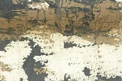 Старая облупленная краска слезая Grungy треснутую стену PA отказов старое Стоковое Изображение