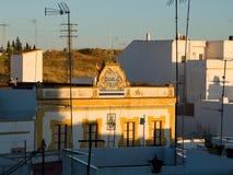 Старая общественная школа Ayamonte, Уэльва Испания Стоковое Фото