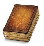 Старая обложка книги, кожа Брайна винтажная записывает переднюю текстуру Стоковые Изображения RF