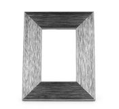Старая огорченная картинная рамка античного grunge серая деревянная изолированная на белизне Стоковое Изображение RF