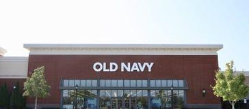 Старая одежда бренда военно-морского флота Стоковое фото RF