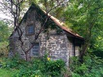 Старая дом в древесинах Стоковое Изображение