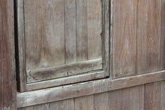 Старая опустошенная деревянная стена Стоковая Фотография