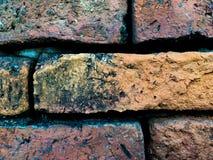Старая оранжевая текстура картины кирпичной стены Стоковое Изображение
