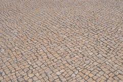 Старая дорога булыжника в городе Стоковое Изображение