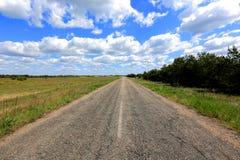 Старая дорога в степи стоковая фотография rf