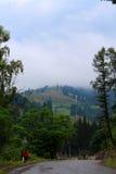 Старая дорога к горе Стоковое Изображение RF